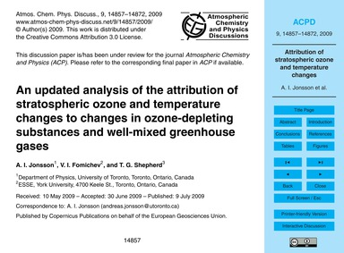 An Updated Analysis of the Attribution o... by Jonsson, A. I.