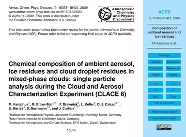 Chemical Composition of Ambient Aerosol,... by Kamphus, M.