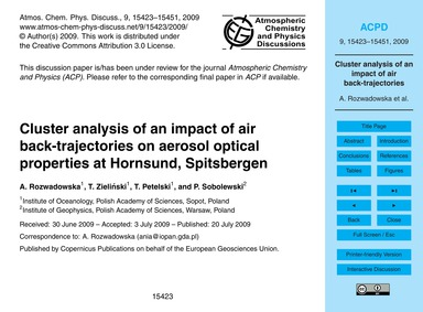 Cluster Analysis of an Impact of Air Bac... by Rozwadowska, A.