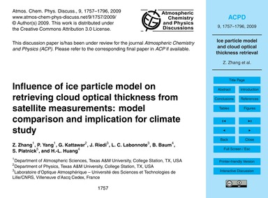 Influence of Ice Particle Model on Retri... by Zhang, Z.