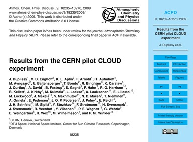 Results from the Cern Pilot Cloud Experi... by Duplissy, J.