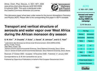 Transport and Vertical Structure of Aero... by Kim, S.-w.