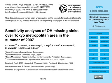 Sensitivity Analyses of Oh Missing Sinks... by Chatani, S.