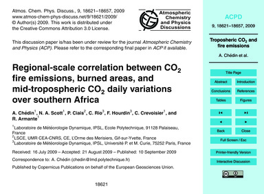 Regional-scale Correlation Between Co2 F... by Chédin, A.