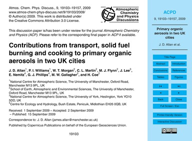 Contributions from Transport, Solid Fuel... by Allan, J. D.