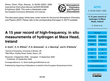 A 15 Year Record of High-frequency, in S... by Grant, A.