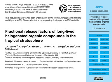 Fractional Release Factors of Long-lived... by Laube, J. C.