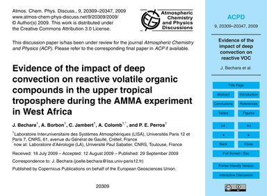 Evidence of the Impact of Deep Convectio... by Bechara, J.