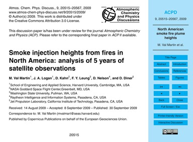 Smoke Injection Heights from Fires in No... by Val Martin, M.