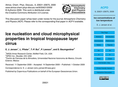 Ice Nucleation and Cloud Microphysical P... by Jensen, E. J.