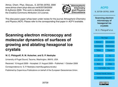 Scanning Electron Microscopy and Molecul... by Pfalzgraff, W. C.