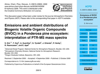 Emissions and Ambient Distributions of B... by Kim, S.
