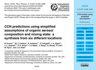 Ccn Predictions Using Simplified Assumpt... by Ervens, B.