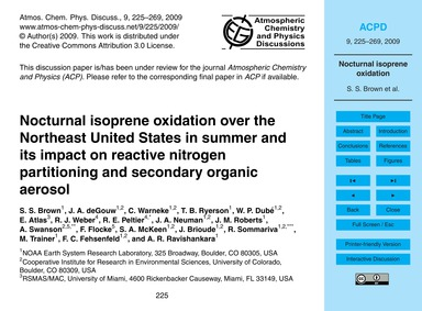 Nocturnal Isoprene Oxidation Over the No... by Brown, S. S.
