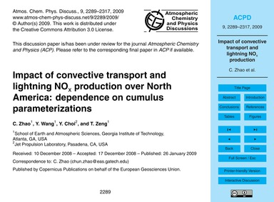 Impact of Convective Transport and Light... by Zhao, C.