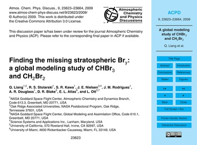 Finding the Missing Stratospheric BrY: a... by Liang, Q.