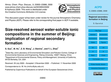Size-resolved Aerosol Water-soluble Ioni... by Guo, S.