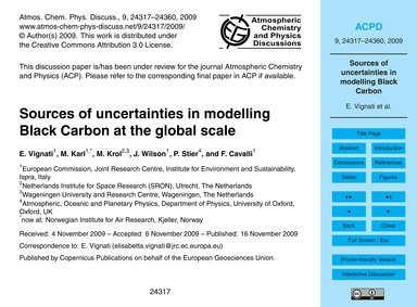 Sources of Uncertainties in Modelling Bl... by Vignati, E.