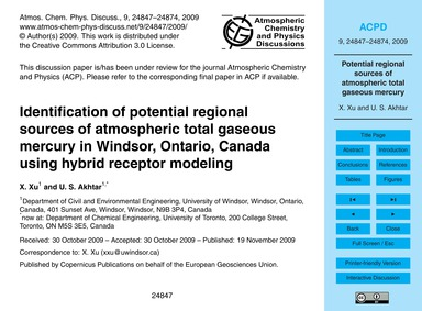 Identification of Potential Regional Sou... by Xu, X.