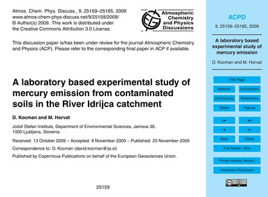 A Laboratory Based Experimental Study of... by Kocman, D.