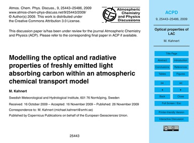 Modelling the Optical and Radiative Prop... by Kahnert, M.