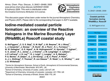 Iodine-mediated Coastal Particle Formati... by McFiggans, G.