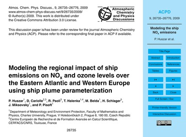 Modeling the Regional Impact of Ship Emi... by Huszar, P.