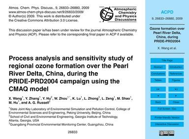 Process Analysis and Sensitivity Study o... by Wang, X.