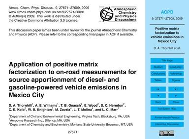 Application of Positive Matrix Factoriza... by Thornhill, D. A.
