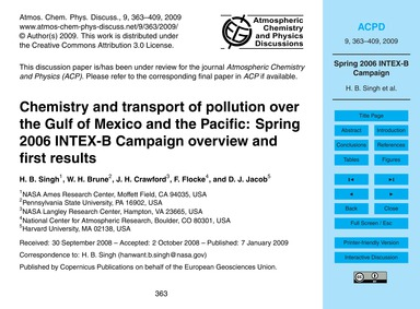 Chemistry and Transport of Pollution Ove... by Singh, H. B.