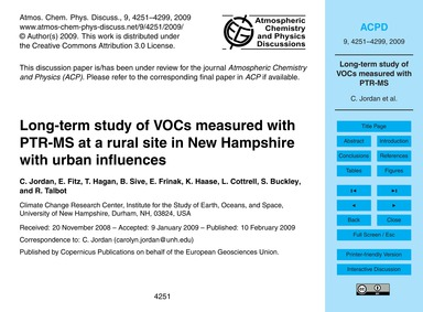 Long-term Study of Vocs Measured with Pt... by Jordan, C.