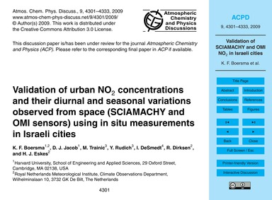 Validation of Urban No2 Concentrations a... by Boersma, K. F.