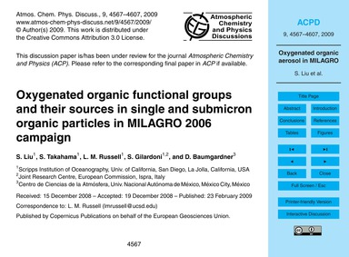 Oxygenated Organic Functional Groups and... by Liu, S.