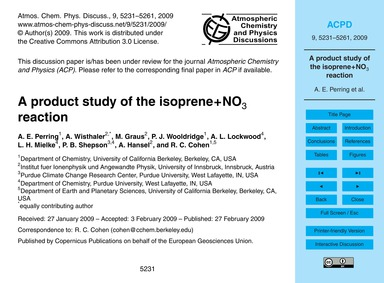 A Product Study of the Isoprene+no3 Reac... by Perring, A. E.