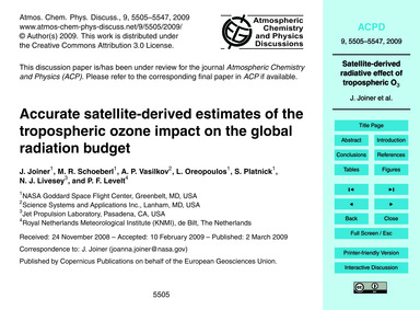 Accurate Satellite-derived Estimates of ... by Joiner, J.