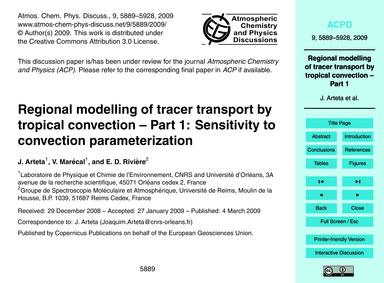 Regional Modelling of Tracer Transport b... by Arteta, J.