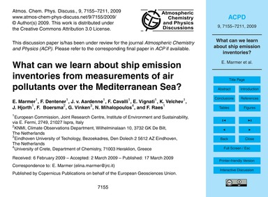 What Can We Learn About Ship Emission In... by Marmer, E.