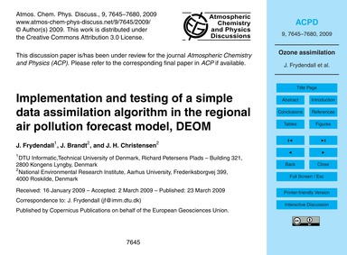 Implementation and Testing of a Simple D... by Frydendall, J.