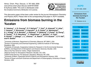 Emissions from Biomass Burning in the Yu... by Yokelson, R.