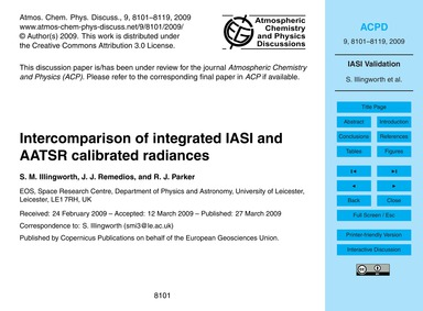 Intercomparison of Integrated Iasi and A... by Illingworth, S. M.