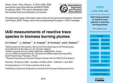 Iasi Measurements of Reactive Trace Spec... by Coheur, P.-f.