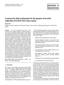 Local Gravity Field Continuation for the... by Pail, R.