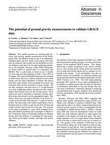 The Potential of Ground Gravity Measurem... by Crossley, D.