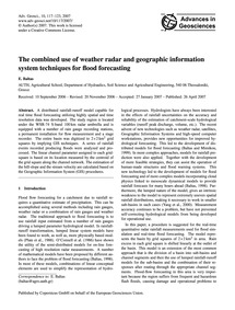 The Combined Use of Weather Radar and Ge... by Baltas, E.