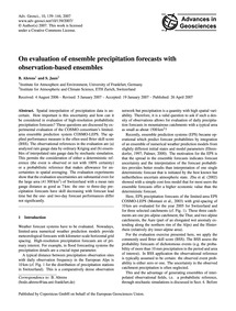 On Evaluation of Ensemble Precipitation ... by Ahrens, B.