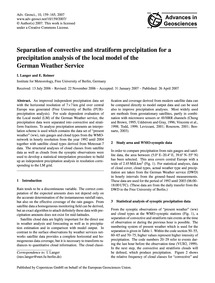 Separation of Convective and Stratiform ... by Langer, I.