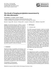 One Decade of Imaging Precipitation Meas... by Schönhuber, M.
