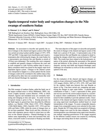Spatio-temporal Water Body and Vegetatio... by Petersen, G.