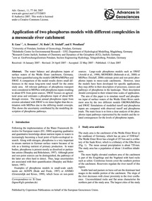 Application of Two Phosphorus Models wit... by Guse, B.