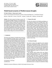 Model-based Scenarios of Mediterranean D... by Weiß, M.